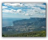 Crimea mountain nature reserve, view of Yalta