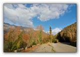 Abkhazia, old road around Ritza lake