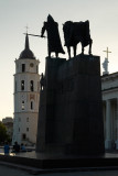 Lithuania, Vilnius cathedral, Grand Duke Gediminas Statue