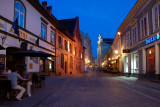 Lithuania, Vilnius, Pilies street at night