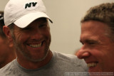 New York Jets QB Brett Favre with Sports Illustrated writer Peter King