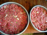 raw meatloaf with onions & peppers, x2