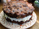 meatloaf layer cake w/ mashed potato filling (detail)
