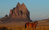 Shiprock and Horse