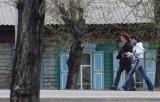 Village along southern side of lake Baikal