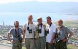 Birding team with guide Igor Fefelov, Krister, Hans, Johan & Stig
