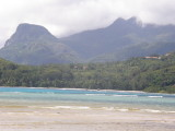 Morne Blanc and Morne Seychellois seen from Anse a la Mouche