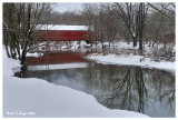 Winter Reflections of Sheard's Mill Covered Bridge