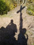 Shadow of two hikers