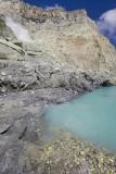 Turquoise sulphur lake of Kawah Ijen