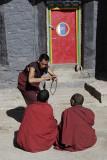 Debating at Sakya Monastery