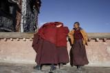 Young monks at Sakya Monastery