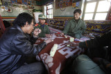 Chinese love to game. The last village before Everst area