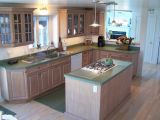 THE KITCHEN WAS MODERN AND EFFICIENT WITH AN ISLAND STOVE