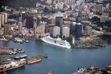 Cruise ship docked in Honolulu