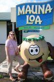 Angela in front of Mauna Loa Macadamia Nut Factory