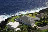 View of the house we stayed at from hang glider