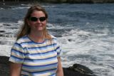 Angela at black sand beach