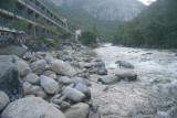 Merced River rapids at the Yosemite View Lodge
