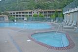 The outdoor pools at the Yosemite View Lodge, El Portal, Ca.