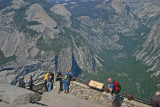Looking down on Yosemite Valley from Glacier Point