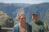 Erica & Stephen with Yosemite Falls in the background