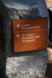 Yosemite Falls Trail signs