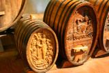 Decorative kegs at Beringer