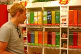 Wayne looks for his favorite flavors