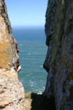 View through the rocks on the way back up