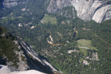 The Yosemite Valley floor as seen from Glacier Point