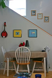 Cypress Cottage dining table / stairs to loft bedroom