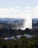 The Captain Cook Memorial Jet Fountain.