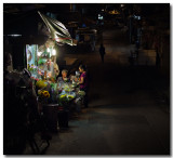 the flower shop and a passerby...