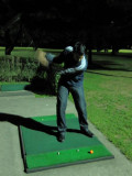 The bachelor teeing off