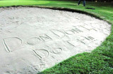 The message waiting for Don on the 5th hole
