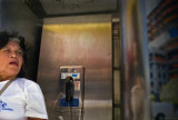 Woman In Phone Booth With Jesus, #2393