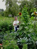 Anni in Her Garden