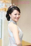 新娘_Charlene於富基婚宴會館之訂婚新秘造型紀錄