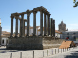 a Roman temple in Evora