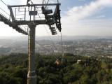 taking the gondola up to Penha