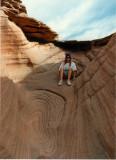 Tammy Exploring above Labyrinth Canyon