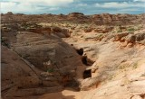 Tanks in Sandstone - Labyrinth Canyon