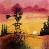 Prairie Sunset, 4 x 4     11-09
