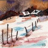 Winter Landscape, 4 x 4   11-09