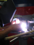 0525  My welder Steve at work (Aluminox)