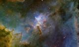 IC1805 SII Ha OIII, Ha as Luminance - closeup panorama