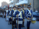 Truppen uppställd inför saluten
