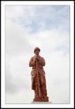 Ranville Church statue