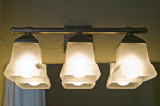 Patton's bathroom light fixture